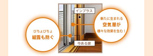 びちょびちょ結露も防ぐ。新たに生まれる空気層が様々な効果を生む!